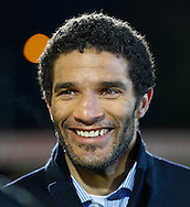 Picture by David Horn/Focus Images Ltd +44 7545 970036<br /> 25/01/2014<br /> David James commentation for BT Sport before the The FA Cup match at the Lamex Stadium, Stevenage.