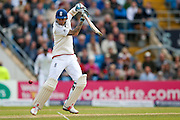 England & Nottinghamshire Batsman Alex Hales  down to third man during day 2 of the first Investec Test Series 2016 match between England and Sri Lanka at Headingley Stadium, Headingley, United Kingdom on 20 May 2016. Photo by Simon Davies.