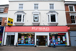 The official opening of the new Post Office inside the Ryman store in Station Street, Burton-On-Trent.  General view of the outside of the new branch.<br /> <br /> Date: September 8, 2017