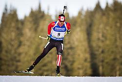 Tarjei Boe (NOR) during Men 10 km Sprint of the IBU Biathlon World Cup Pokljuka on Thursday, December 16, 2015 in Pokljuka, Slovenia. Photo by Ziga Zupan / Sportida