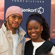 NLD/Amsterdam/20200229 - Lewis Hamilton lanceert de kledinglijn TommyXLewis, Lewis Hamilton en Michaela DePrince