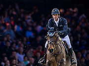 HONG KONG - FEBRUARY 20:  Pieter Devos of France rides Dream of India Greenfield during the Airbus Trophy as part of the 2016 Longines Masters of Hong Kong on February 20, 2016 in Hong Kong, Hong Kong.  (Photo by Aitor Alcalde Colomer/Getty Images)