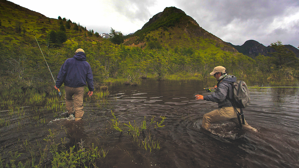 Early spring brings the opportunity to wade for big trout when a remote river floods its banks.