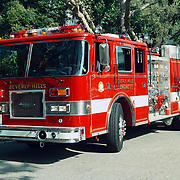 Reis Amerika, brandweerwagen beverly Hills Engine 1 Los Angeles