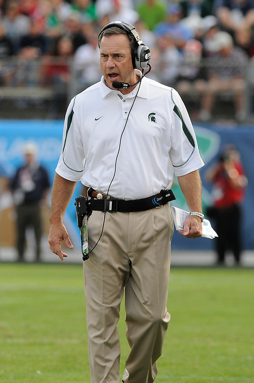 January 1, 2009: Head coach Mark Dantonio of the Michigan State Spartans in action during the NCAA football game between the Michigan State Spartans and the Georgia Bulldogs in the Capital One Bowl. The Bulldogs defeated the Spartans 24-12.