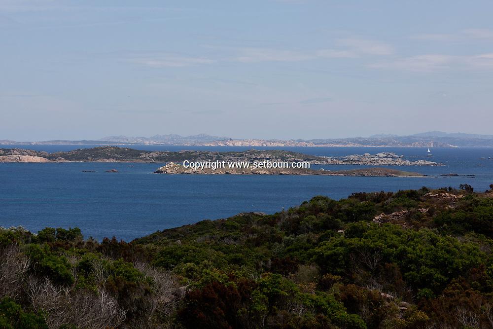 Corsica. France. Cala longa beach near Bonifacio, Corsica south / la plage de Cala longa  pres de Bonifacio, Corse du sud