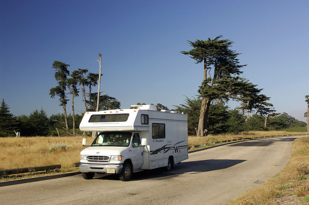 Camper, Motorhome, Lighthouse Field State Park, Santa Cruz, California, United States of America