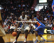 Mississippi's Eniel Polynice (14) vs. Florida at the Tad Smith Coliseum in Oxford, Miss. on Saturday, February 20, 2010 in Oxford, Miss. Florida won 64-61.