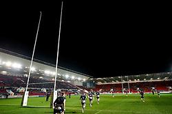 Bristol Rugby run out - Mandatory byline: Rogan Thomson/JMP - 12/02/2016 - RUGBY UNION - Ashton Gate Stadium - Bristol, England - Bristol Rugby v Ealing Trailfinders - Greene King IPA Championship.