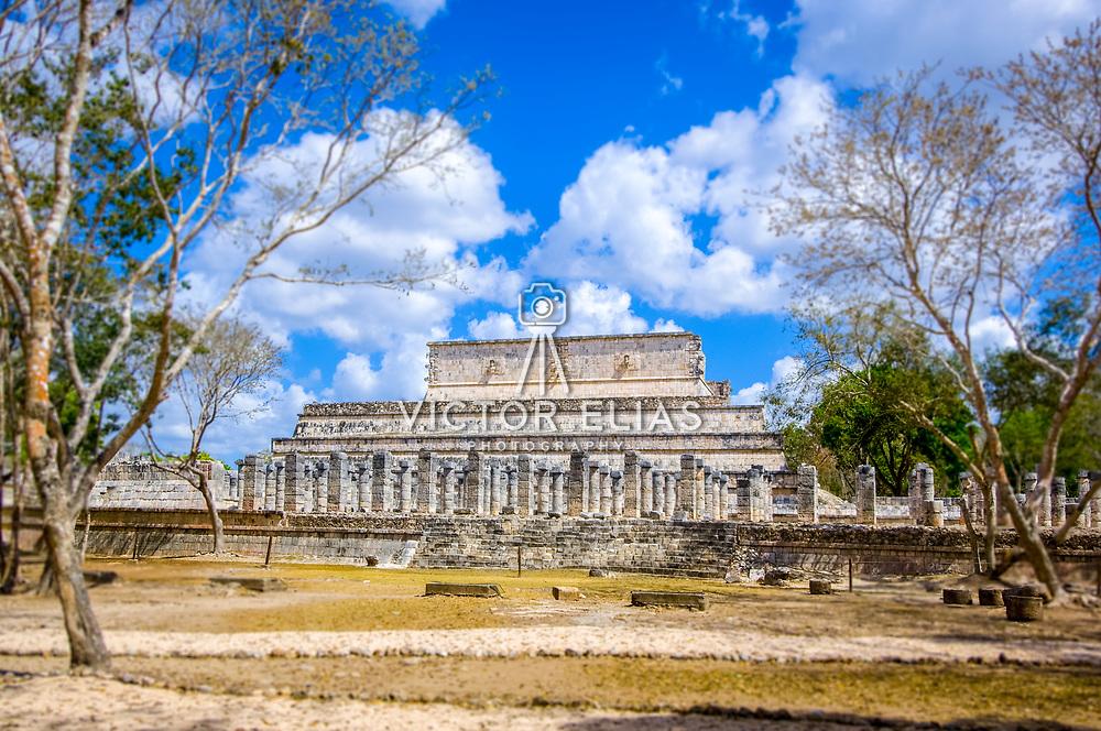 Chichen Itza # 9    Warriors temple at Chichen Itza. Yucatan, Mexico.