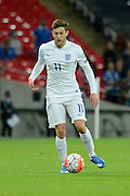 England midfielder Adam Lallana during the Group E UEFA European 2016 Qualifier match between England and Estonia at Wembley Stadium, London, England on 9 October 2015. Photo by Alan Franklin.