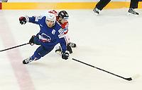 Teddy Da Costa  - 05.05.2015 - Autriche / France  - Championnats du Monde de Hockey sur Glace 2015 -Prague<br />Photo : Xavier Laine / Icon Sport