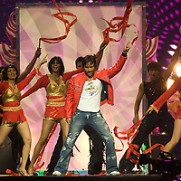 SHEFFIELD, UNITED KINGDOM - 9th June 2007: Bollywood actor Saif Ali Khan performing at International Indian Film Academy Awards (IIFAs) at the Sheffield Hallam Arena on June 9, 2007 in Sheffield, England..