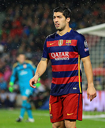 Luis Suarez of Barcelona  - Mandatory byline: Matt McNulty/JMP - 16/03/2016 - FOOTBALL - Nou Camp - Barcelona,  - FC Barcelona v Arsenal - Champions League - Round of 16