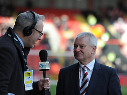 Bristol City's majority shareholder, Steve Lansdown is interviewed by BBC Radio ahead of FA Cup fourth round tie between Bristol City and West Ham United - Photo mandatory by-line: Paul Knight/JMP - Mobile: 07966 386802 - 25/01/2015 - SPORT - Football - Bristol - Ashton Gate - Bristol City v West Ham United - FA Cup fourth round