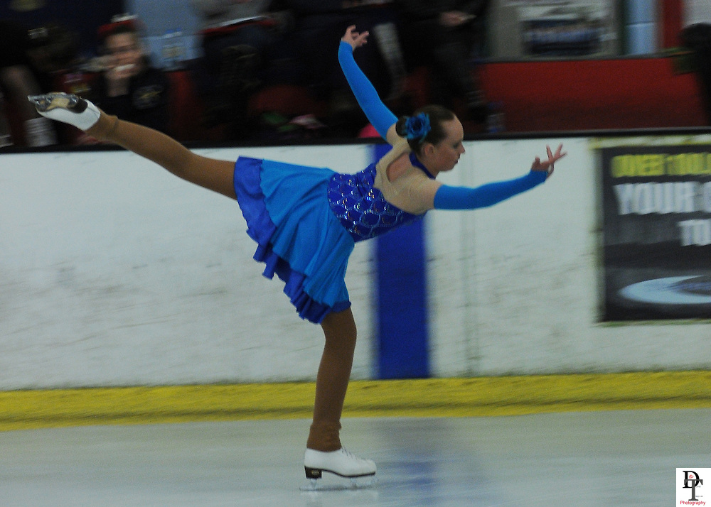 Kat Howick ice dancing at Planet Ice Rink Gosport.