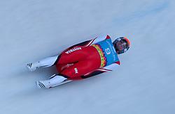 "15.01.2012, Bobbahn Igls, Innsbruck, AUT, Olympische Jugend Winterspiele, Rodeln, Herren, im Bild David Gleirscher (AUT) // David Gleirscher (AUT) during the Mens Luge of the Winter Youth Olympic Games at the ""Bob Track Igls"", Innsbruck, Austria on 2012/01/15, EXPA Pictures © 2012, PhotoCredit: EXPA/ Juergen Feichter"
