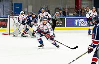 2020-01-22   Kallinge, Sweden: Halmstad Hammers (45) Jacob Sundberg have focus on the puck during the game between Krif hockey and Halmstad Hammers at Soft Center Arena (Photo by: Jonathan Persson   Swe Press Photo)<br /> <br /> Keywords: kallinge, Ishockey, Icehockey, hockeyettan, allettan södra, soft center arena, krif hockey, halmstad hammers (Match code: krhh200122)