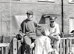 Young people on housing estate, Nottingham, UK 1979