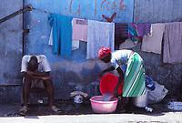 a woman at work, Port au Prince, Haiti - 1980s