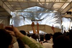 Ashura celebrators prepare to march on the streets of Nabatieh, Lebanon.