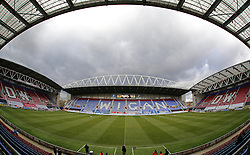A general view of Wigan Athletic's DW Stadium - Mandatory byline: Joe Dent/JMP - 05/03/2016 - FOOTBALL - DW Stadium - Wigan, England - Wigan Athletic v Peterborough United - Sky Bet League One