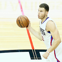 09 November 2016: Los Angeles Clippers forward Blake Griffin (32) passes the ball during the LA Clippers 111-80 victory over the Portland Trail Blazers, at the Staples Center, Los Angeles, California, USA.