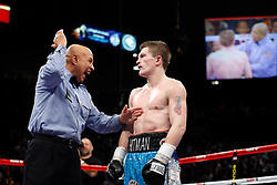 K.M. CANNON/REVIEW-JOURNALReferee Joe Cortez warns Ricky Hatton of Britain in the sixth round against Floyd Mayweather of Las Vegas in their WBC World Welterweight Championship bout at the MGM Grand Garden Arena Saturday, Dec. 8, 2007. Mayweather won by knockout in the 10th round...