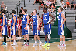 28 June 2014: Cory Dullard & Brady Rose & Jaylen Beasley & John Carroll  2014 Boys Illinois Basketball Coaches Association All Start game at the Shirk Center in Bloomington IL