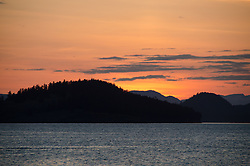 Sunset from Jones Island State Park, San Juan Islands, Washington, US