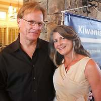 Tim Watkins, left, and Debbie Watkins pose for a photo during Juice, Jazz & Java Saturday September 6, 2014 at Cape Fear National Golf Course in Leland, N.C. (Jason A. Frizzelle)