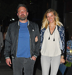 Ben Affleck and Lindsay Shookus grab dinner on the Upper West Side. 10 Sep 2017 Pictured: Ben Affleck and Lindsay Shookus. Photo credit: MEGA TheMegaAgency.com +1 888 505 6342