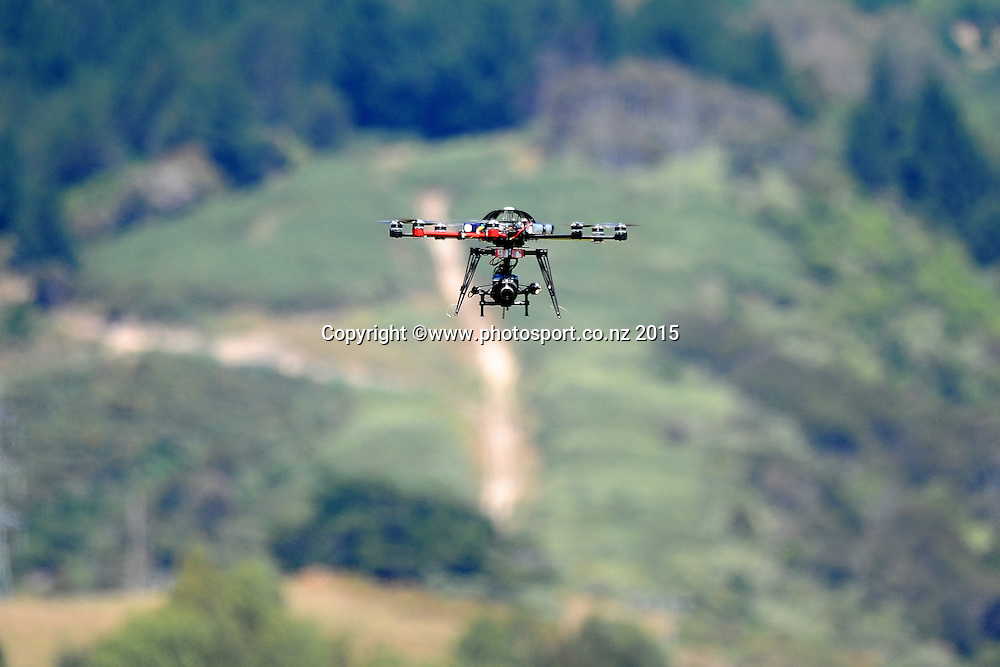 SKY Sport camera drone during Match 4 of the ANZ One Day International Cricket Series between New Zealand Black Caps and Sri Lanka at Saxton Oval, Nelson, New Zealand. Tuesday 20 January 2015. Copyright Photo: Chris Symes/www.Photosport.co.nz