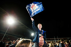 Bristol Rugby fans celebrate after winning the Championship Final and promotion to the Aviva Premiership - Mandatory byline: Rogan Thomson/JMP - 25/05/2016 - RUGBY UNION - Ashton Gate Stadium - Bristol, England - Bristol Rugby v Doncaster Knights - Greene King IPA Championship Play Off FINAL 2nd Leg.