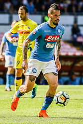 April 8, 2018 - Naples, Italy - Marek Hamsik (SSC Napoli)..during the Italian Serie A football SSC Napoli v Chievo Verona at S. Paolo Stadium..in Naples on April 08, 2018  (Credit Image: © Paolo Manzo/NurPhoto via ZUMA Press)
