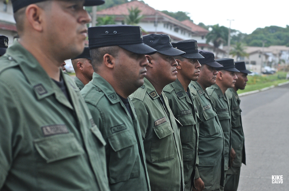 Panamanian National Police forces.    Panama. - July 11, 2012 (Kike Calvo via AP Images)