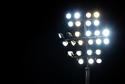 A general view of floodlights at the Kingsholm Stadium - Mandatory by-line: Ryan Hiscott/JMP - 15/02/2019 - RUGBY - Kingsholm - Gloucester, England - Gloucester Rugby v Exeter Chiefs - Gallagher Premiership Rugby