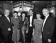 People Of The Year Awards.  (R91)..1988..22.11.1988..11.22.1988..22nd November 1988..This is the fourteenth year of the People of the Year Awards, sponsored by the New Ireland Assurance Company plc. The awards will be presented by Mr Ray Burke TD, Minister of Energy and Communications. Eight people have been nominated this year..Mr Ollie Jennings, for his contribution to community and cultural life of Galway City..Mr Jack Charlton, for restoration of pride to the Irish Soccer team..Ms Carmencita Hederman, For her efforts to instill a community spirit in Dublin..Maureen O'Mahony, for her dedication in assisting the sick and elderly in the Bantry area..Mr Tommy Boyle, for his contribution in having the Garda band ranked as one of the top bands in the world..Ms Alice Leahy, for a lifetime commitment in providing medical care to the Dublin Homeless..Ms Norma Smurfitt, for her voluntary contribution to the work of the Arthritis Foundation Of ireland..Mr Gordon Wilson, for his commitment to peace and reconcilliation in Northern Ireland...Image shows some of the invited guests who attended the People of the Year awards at the Burlington Hotel, Dublin..(Picture requested by Paschal McNeill, New Ireland)