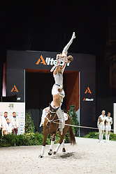 Team GER, Delia 99, Jessica Schmitz - Squad Final Vaulting - Alltech FEI World Equestrian Games™ 2014 - Normandy, France.<br /> © Hippo Foto Team - Jon Stroud<br /> 05/09/2014