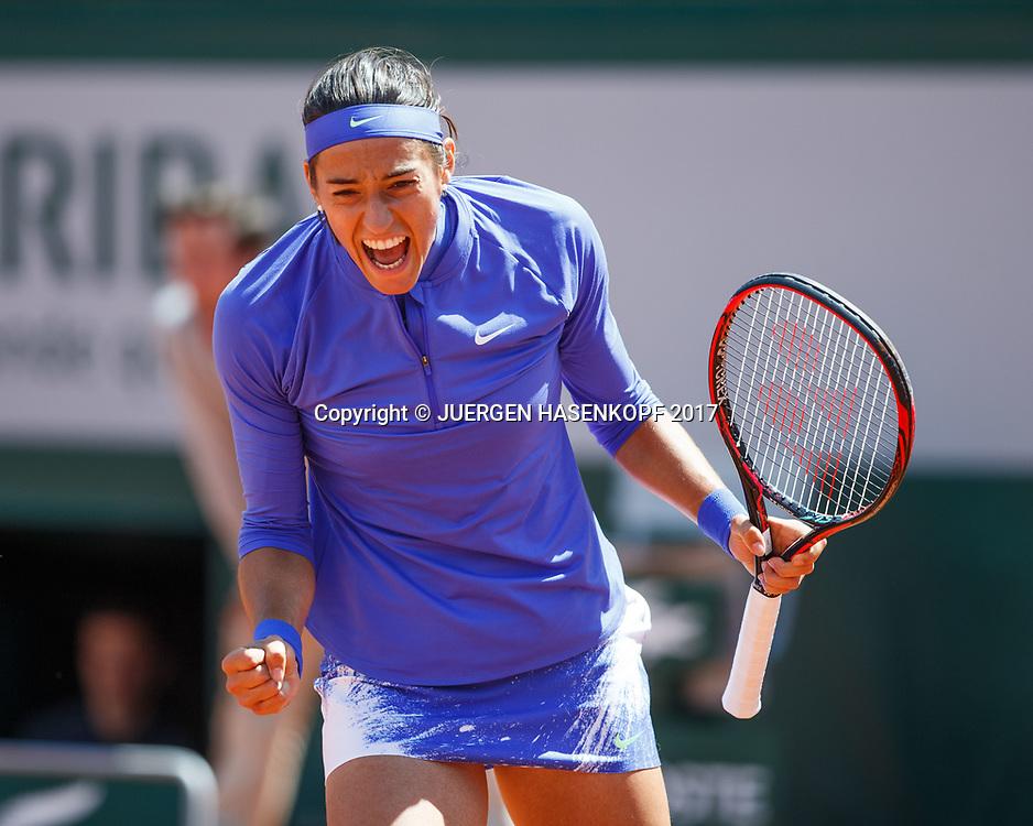 CAROLINE GARCIA (FRA) macht die Faust und jubelt,Jubel,Emotion,<br /> <br /> Tennis - French Open 2017 - Grand Slam / ATP / WTA / ITF -  Roland Garros - Paris -  - France  - 7 June 2017.