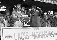 Monaghan Vs Laois National Football League at Croke Park, 05/05/1986 (Part of the Independent Newspapers Ireland/NLI Collection).