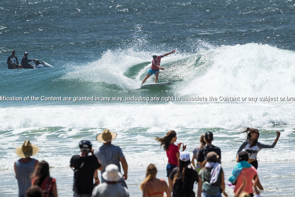 Joel Parkinson (AUS) is eliminated from the Quiksilver Pro Gold Coast after placing second in Heat 9 of Round 3 at Snapper Rocks, Gold Coast, QLD, Australia. . FOR EDITORIAL NEWS USE ONLY