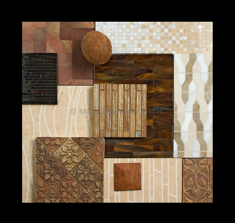 Ceramic tile samples