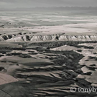 aerial image cutbank creek montana conservation photography - blackfeet oil