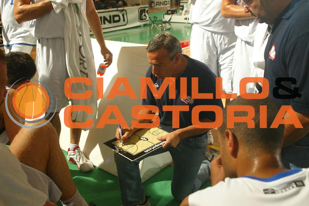 DESCRIZIONE : San Vito al Tagliamento Precampionato Lega A1 2006-07 Nuova Sebastiani Rieti Benetton Treviso <br />GIOCATORE : Lardo<br />SQUADRA : Nuova Sebastiani Rieti<br />EVENTO : Precampionato Lega A1 2006-2007 Memorial Boz <br />GARA : Nuova Sebastiani Rieti Benetton Treviso <br />DATA : 08/09/2006 <br />CATEGORIA : Timoeut  <br />SPORT : Pallacanestro <br />AUTORE : Agenzia Ciamillo-Castoria/M.Marchi