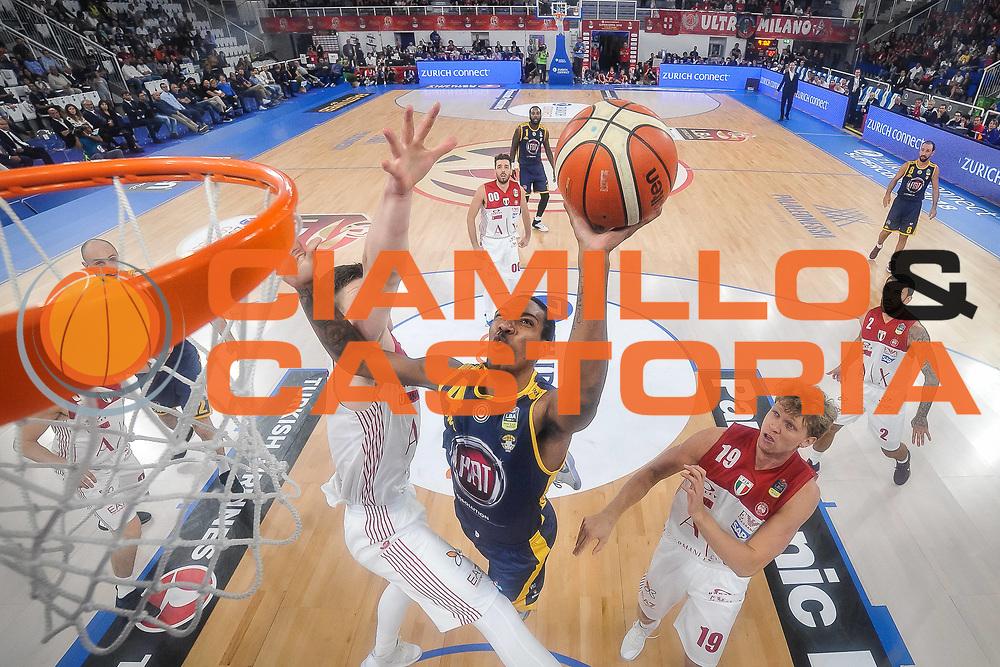 Tony Carr<br /> Olimpia Milano - Auxilium Torino<br /> Finale Zurich Supercoppa 2018 Serie A<br /> Brescia 30/09/2018<br /> Foto Mattia Ozbot / Ciamillo-Castoria