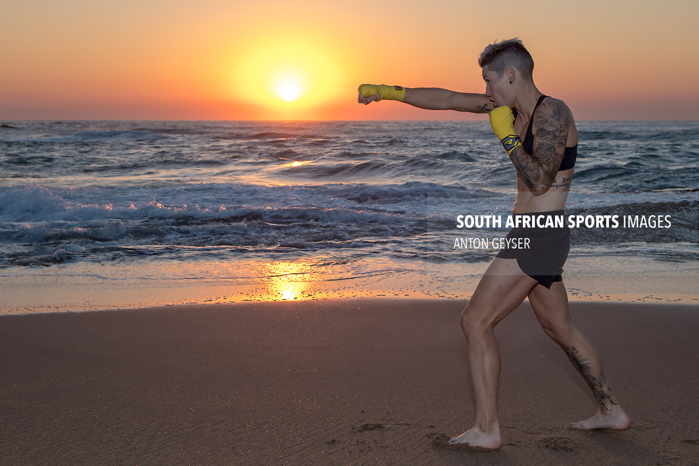 """BALLITO, SOUTH AFRICA - JUNE 04: Amanda """"Mad Dog"""" Lino photo shoot at Thompson Bay on June 04, 2017 in Ballito, South Africa. (Photo by Anton Geyser/Gallo Images)"""