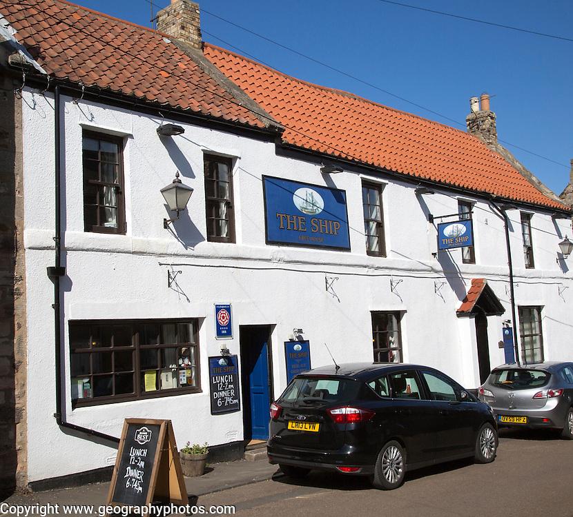 The Ship, traditional village pub, Holy Island, Lindisfarne, Northumberland, England, UK