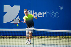 Lucas Miedler (AUT) in action during Day 5 at ATP Challenger Zavarovalnica Sava Slovenia Open 2018, on August 7, 2018 in Sports centre, Portoroz/Portorose, Slovenia. Photo by Vid Ponikvar / Sportida