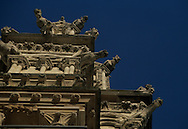 France. Paris. Notre Dame cathedral. gargoyles,of Notre dame cathedral  tower, south tower